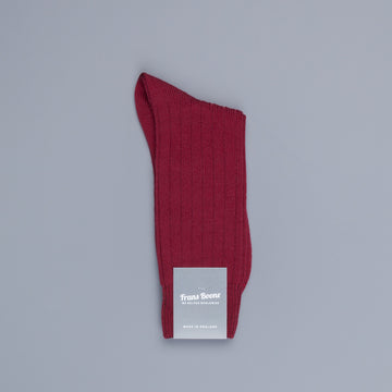 Pantherella Packington Merino wool socks Wine