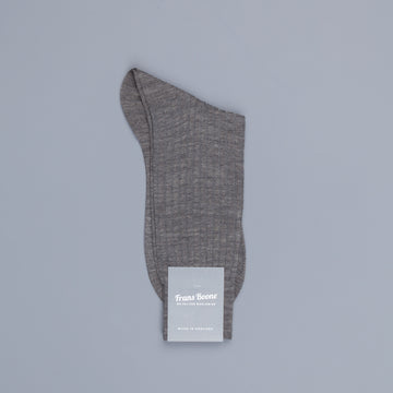 Pantherella Laburnum merino wool ankle high socks Mid Grey Mix