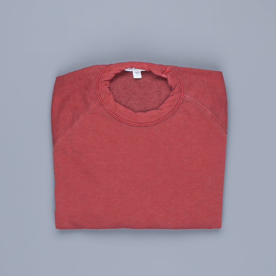 James Perse Vintage Fleece Raglan Sweat Claret