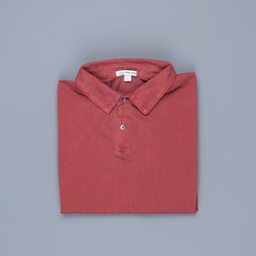 James Perse Revised standard polo Claret