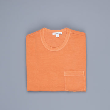 James Perse Crew Neck Pocket Tee Suede Jersey Orange