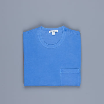 James Perse Crew Neck Pocket Tee Suede Jersey Electric Blue