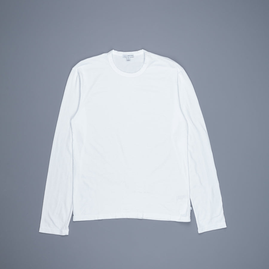 James Perse Longsleeve Crew Neck Suede Jersey White