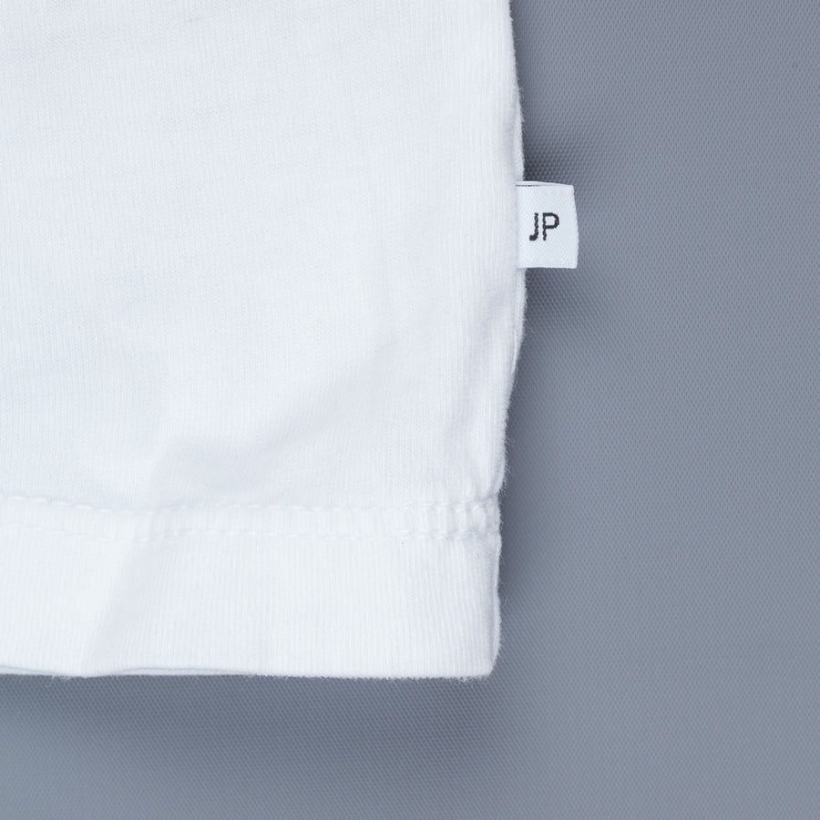 James Perse Crew Neck Pocket Tee Suede Jersey White
