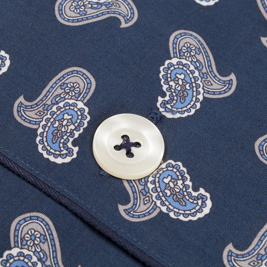 Maison marcy pj's navy paisley regular fit