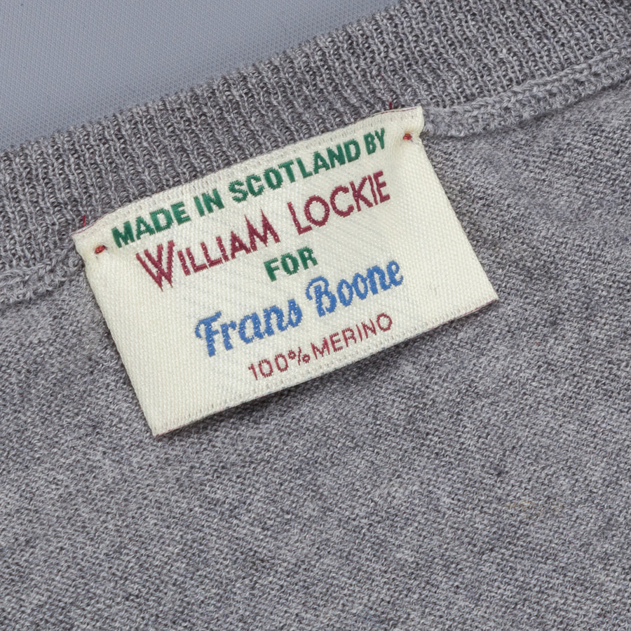 William Lockie x Frans Boone 30 gauge Loro Piana Merino's V-Neck Flannel