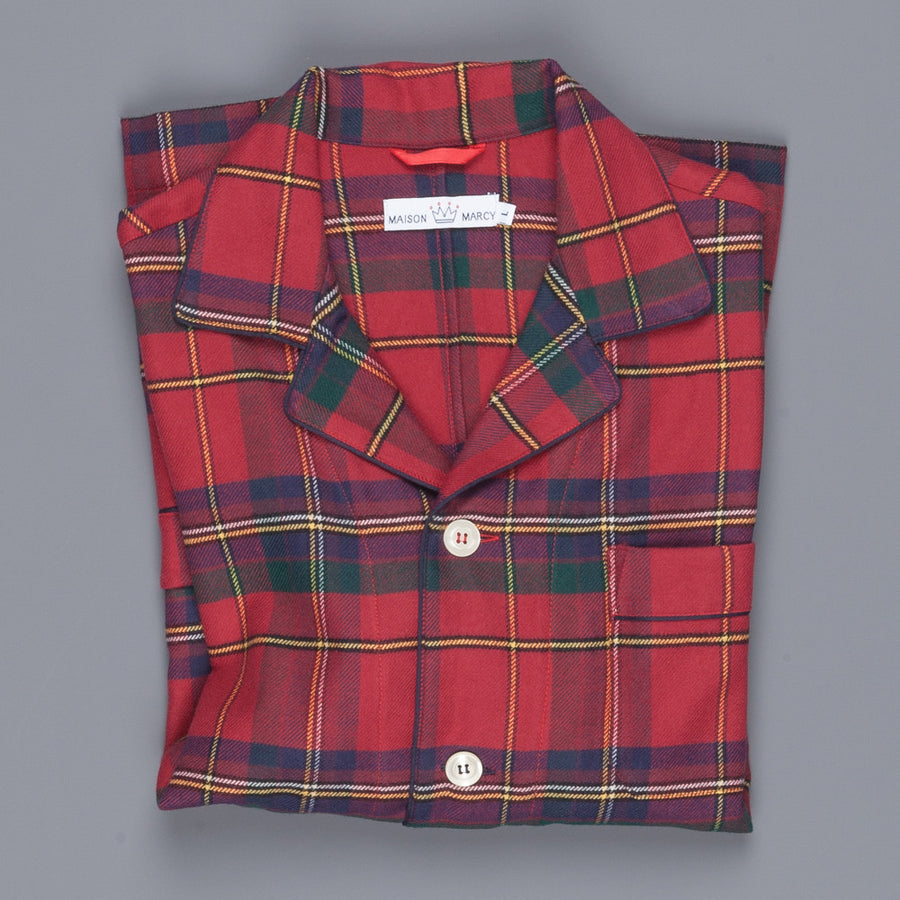 Maison Marcy flannel red glenncheck jacket
