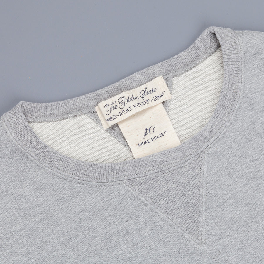 Remi Relief Special Finish Crew Neck Sweatshirt MIT Print Heather Grey