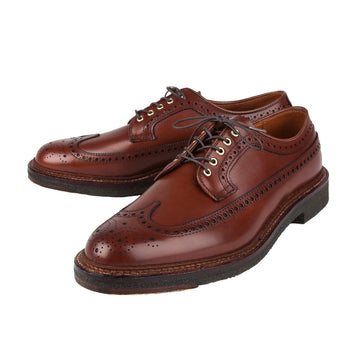 Alden x Frans Boone Walnut Brown calfskin longwing on crepe
