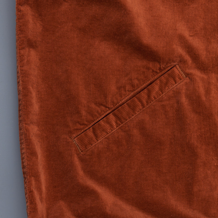 Remi Relief 6W Corduroy Down Coach Jacket Orange