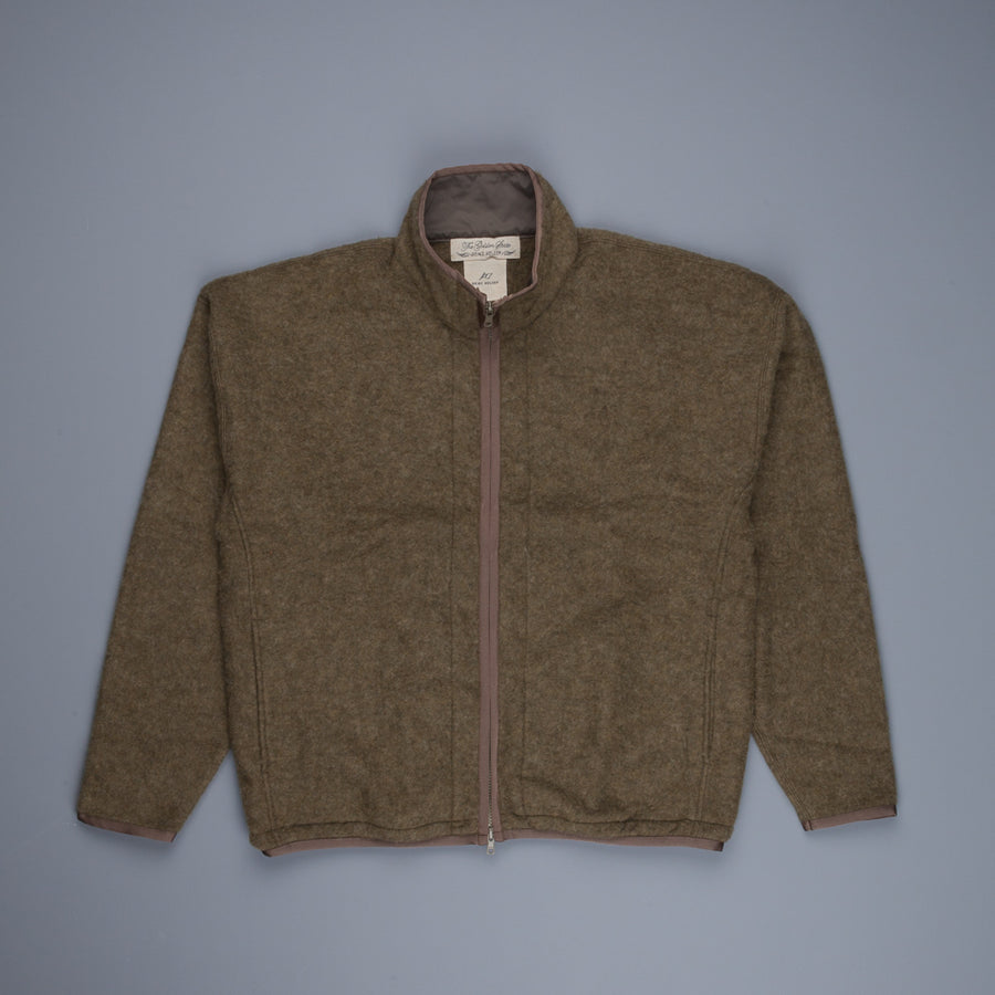 Remi Relief Zipped Wool Fleece Khaki