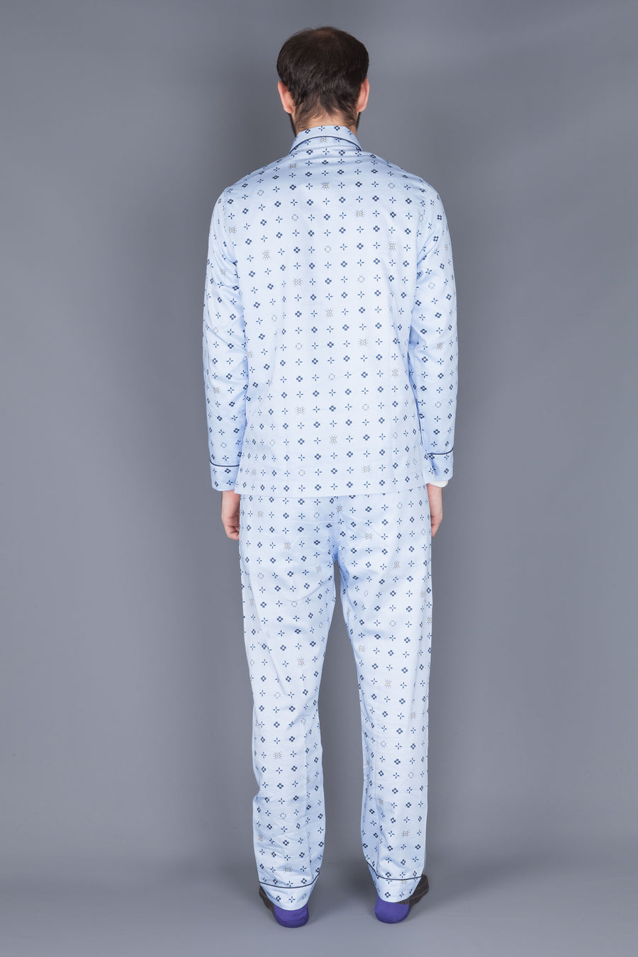 Maison Marcy Slim fit PJ's light blue print