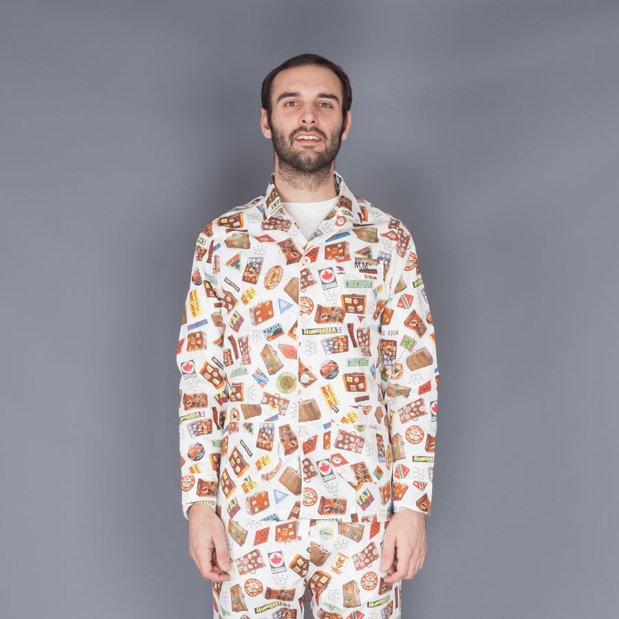Maison Marcy Slim fit PJ's off white print