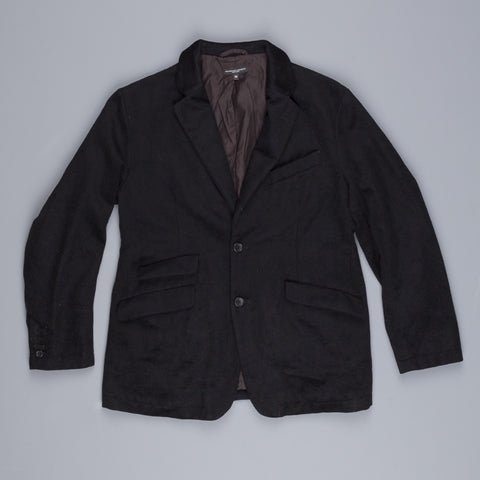 Engineered Garments b2b jacket in black wool cashmere flannel