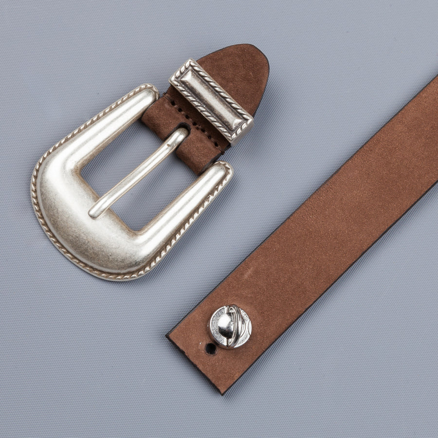 Anderson's x Frans Boone Brown Nubuck belt
