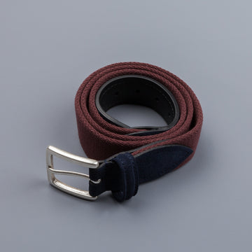 Anderson's x Frans Boone woven belt Burgundy Blu-suede