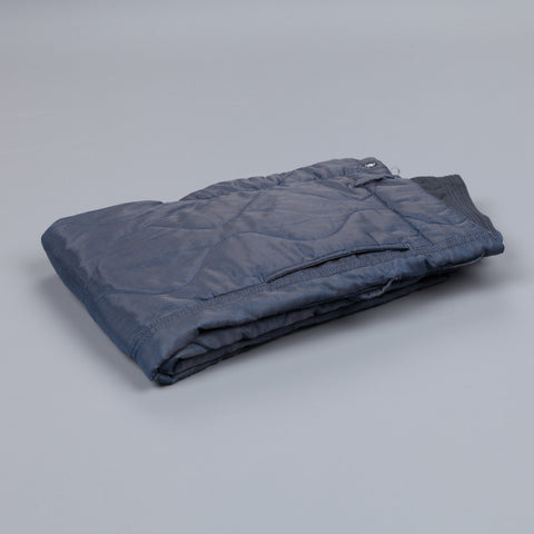 Engineered Garments E-1 over pant in hourglass quilted twill lining