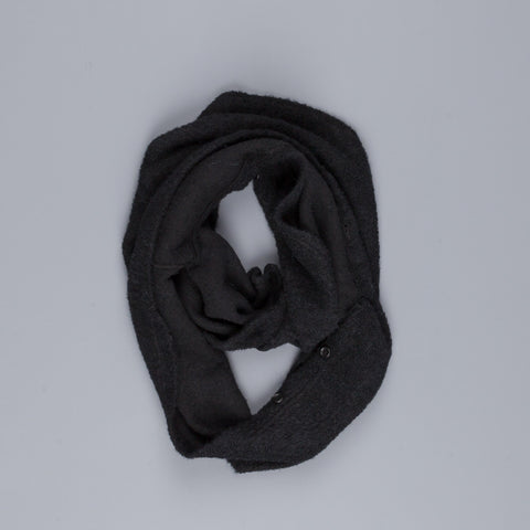 Engineered garments infinity scarf in Black boucle