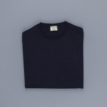 William Lockie x Frans Boone 30 gauge Loro Piana Merino's Crew Neck Dark Navy