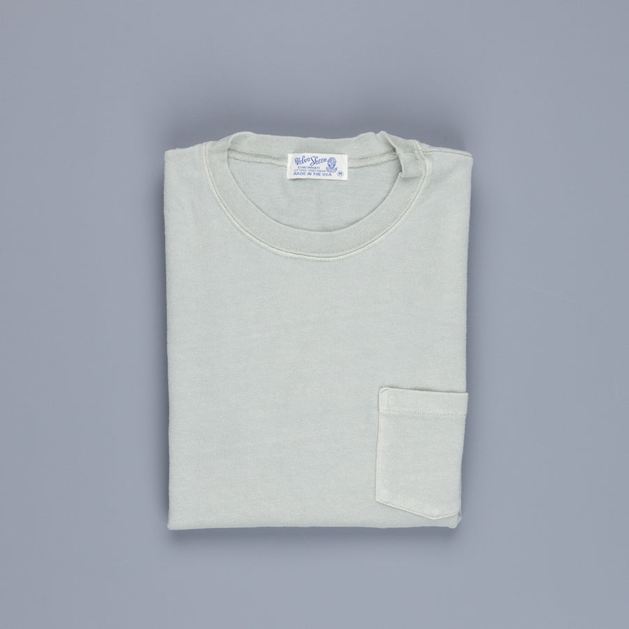 Velva Sheen heavy Oz Longsleeve pocket tee Dyed Grey