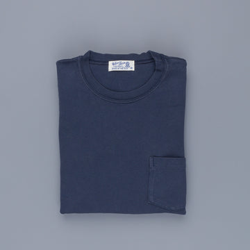 Velva Sheen Heavy oz Pïgment L/S Tee with pocket Navy