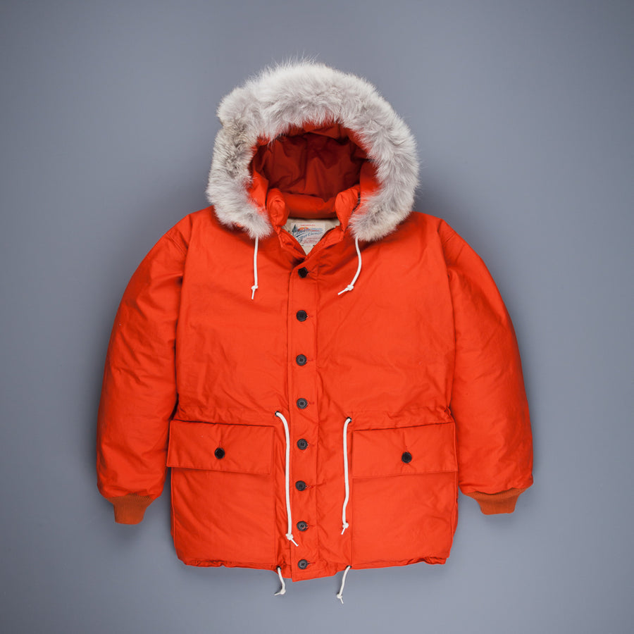 The Real McCoy's Outdoor Explorer Down Jacket Orange