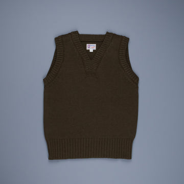 The Real McCoy's Sleeveless Sweater Olive