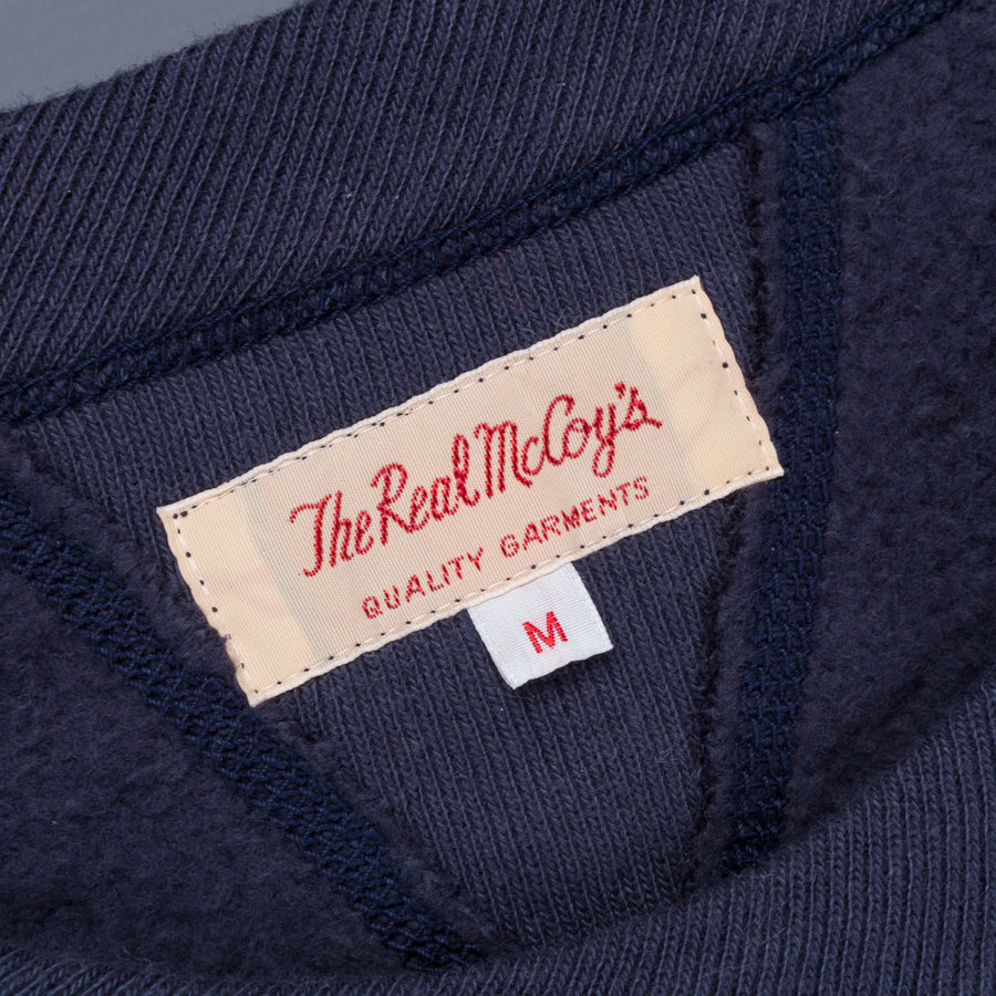 The Real McCoy's Joe McCoy 10oz loopwheel sweatshirt Navy