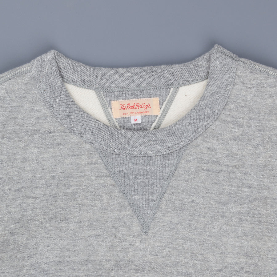 The Real McCoy's Joe McCoy 10oz loopwheel sweatshirt Gray