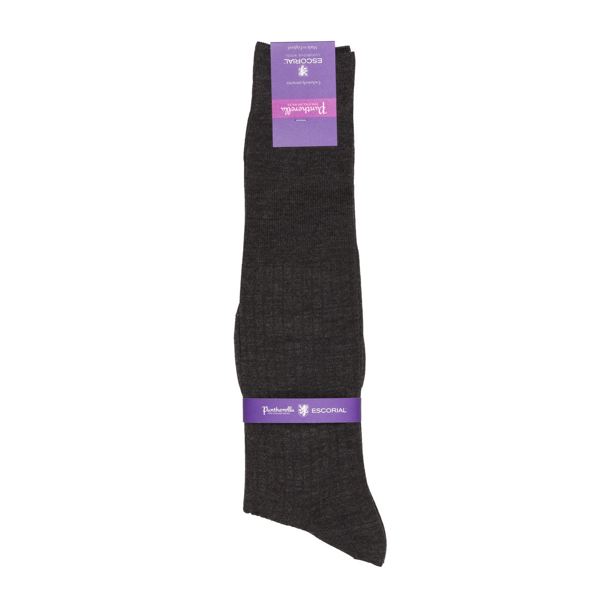Pantherella knee high socks Escorial wool dark grey mix