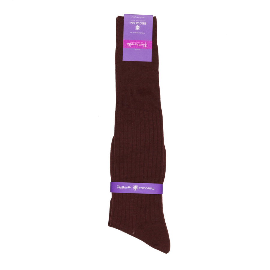 Pantherella knee high socks Escorial wool Maroon