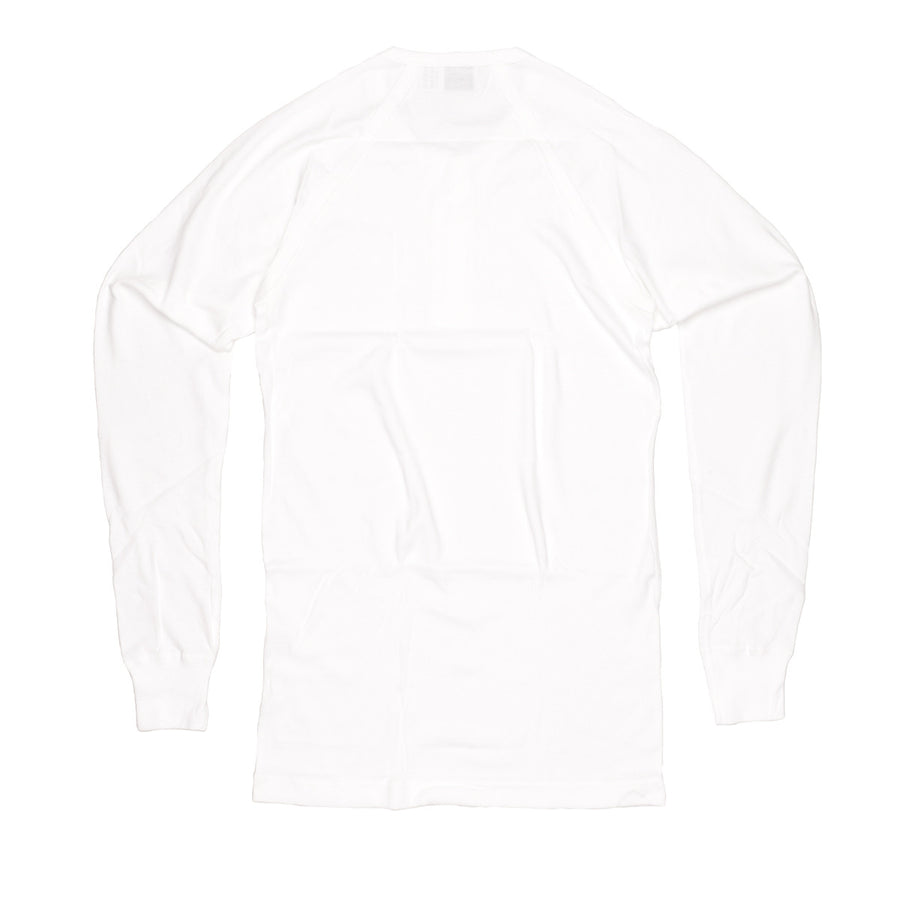 Hammerthor LS button tee white