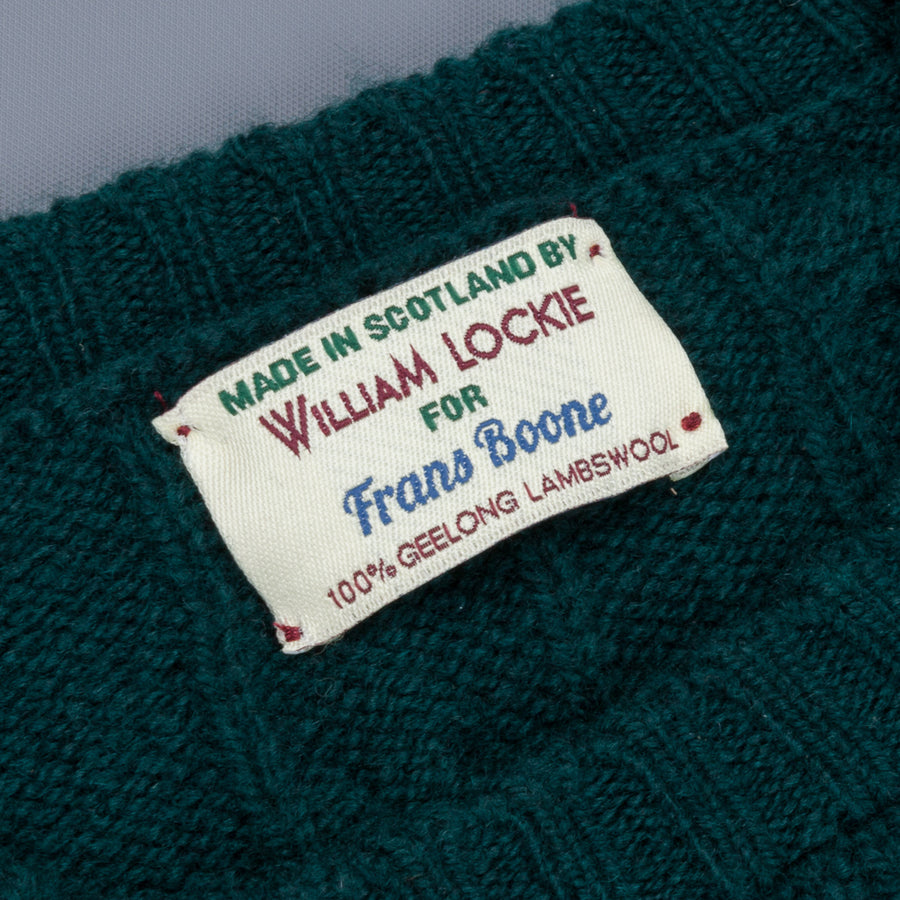 William Lockie x Frans Boone Gullan Super Geelong Cable Tartan Green