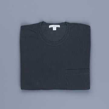 James Perse Crew Neck Pocket Tee Suede Jersey Magma
