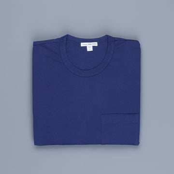 James Perse Crew Neck Pocket Tee Suede Jersey Cosmos