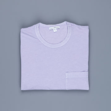 James Perse Crew Neck Pocket Tee Suede Jersey Parfait