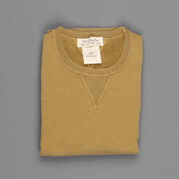 Remi Relief Special finish fleece crew Heather Yellow Olive