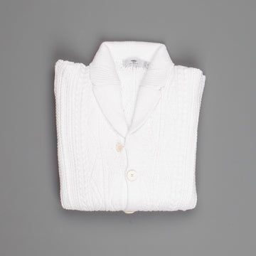 Inis Meain Aran Jacket Pure White