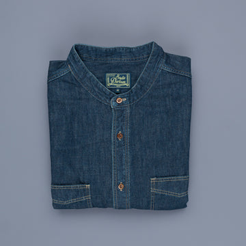 Studio D'Artisan 038 Denim Workshirt Band Collar