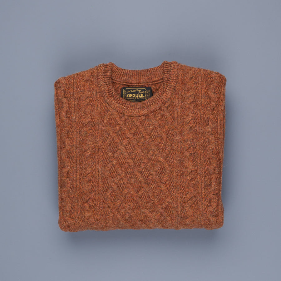 Orgueil OR4153 Cable Knit Sweat Orange