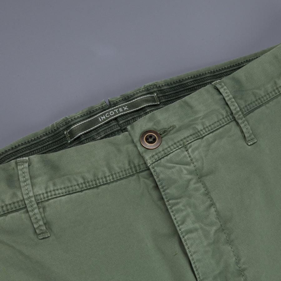 Incotex Slacks Model 100 Verde Medio