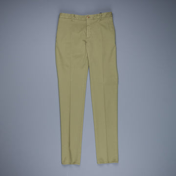 Incotex Venezia Model 84 Cotton-Lyocel pants Verde Medio