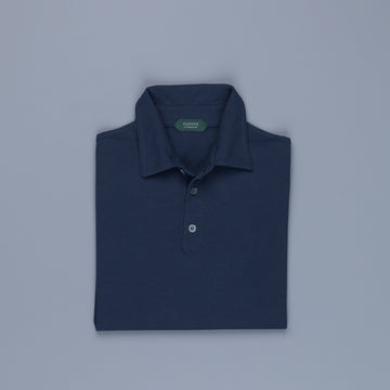 Zanone longsleeve polo ice cotton Blu Copiativo