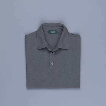 Zanone short sleeve polo ice cotton Piombo