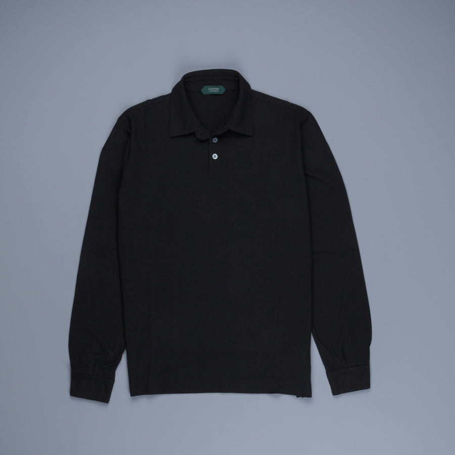 Zanone longsleeve polo ice cotton Nero