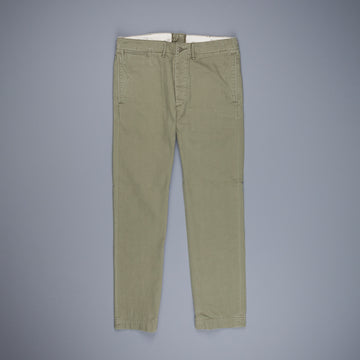 RRL Officer´s Chino Piece Dye Right Hand Twill Olive