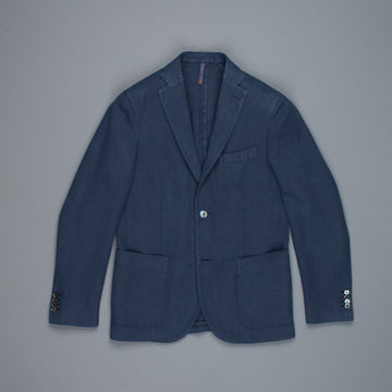 Montedoro Jacket Cotton Ramie Blu