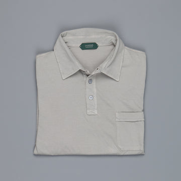 Zanone Pima cotton short sleeve polo grigio medio
