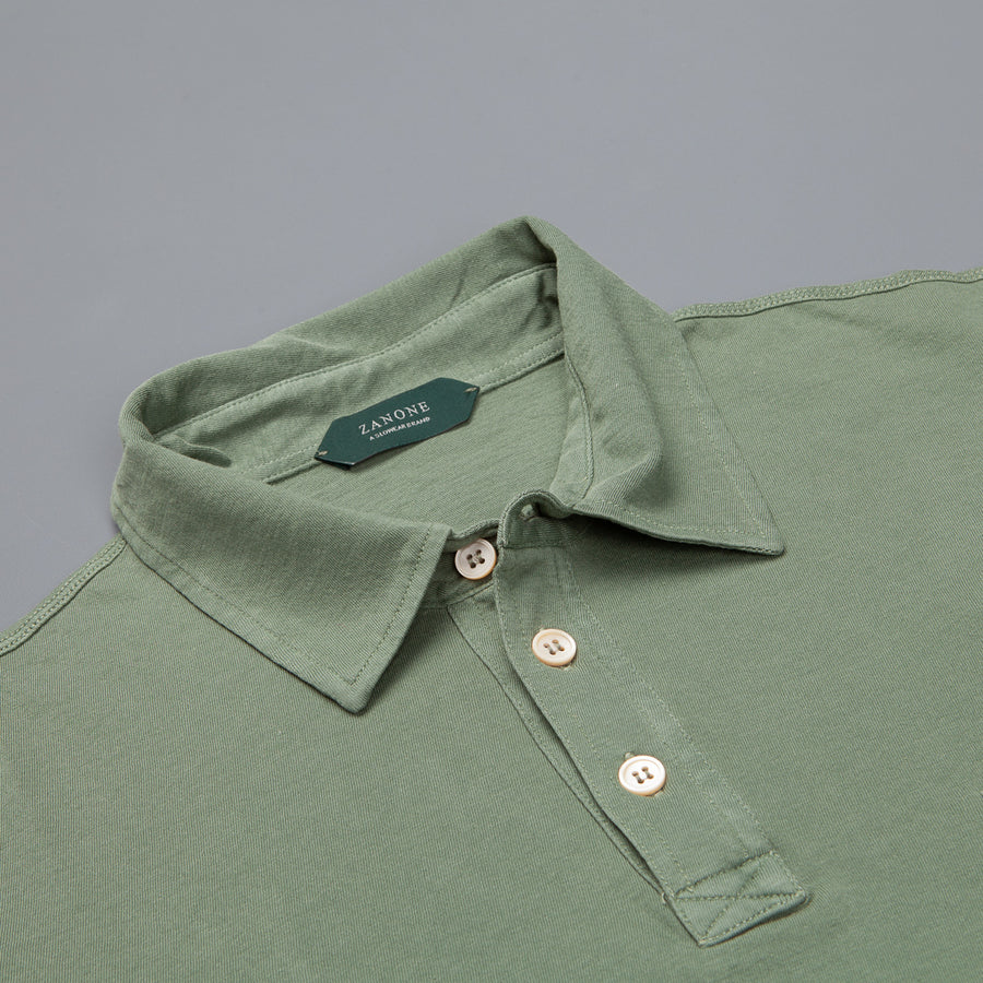 Zanone Pima cotton short sleeve polo Verde Marcio chiaro