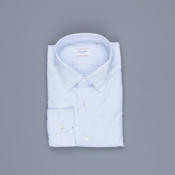Glanshirt Kurt Poplin Light Blue Pencil Stripe
